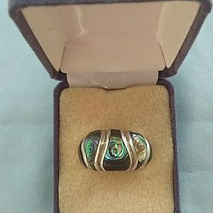 Jewelry - Vintage Abalone Dome Ring 925 CFJ